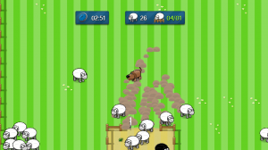 Sheeps tend to go in flock, except when they flee