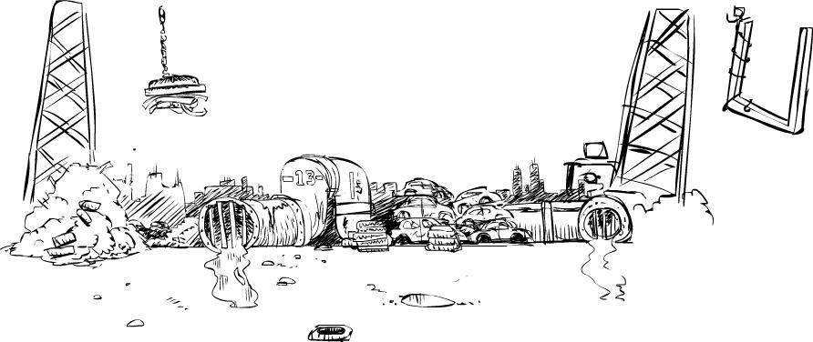 Scenario concept: Junkyard